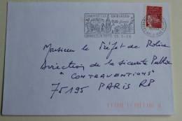 95 Val D´Oise - Flamme 1989 - CORMEILLES EN PARISIS - Ville Fleurie - Postmark Collection (Covers)