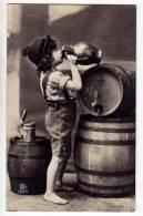 HUMOUR BEER BOY DRINKING BEER BARRELS KKHG Nr. 1321/3 OLD POSTCARD 1910. - Humour