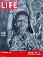 Magazine LIFE - SEPTEMBER 10 , 1951 - INTERNATIONAL EDITION -          (2994) - Nouvelles/ Affaires Courantes