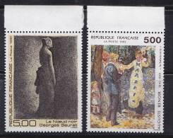 N° 2692 Et 2693 Série Artistique:: La Banançoire D´Auguste Renoir Le Noeud Noir De Georges Seurat - Ongebruikt