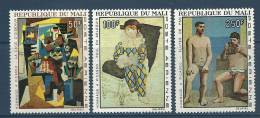 """Mali Aérien YT 46 à 48 """" Hommage à Picasso, 3 TP """" 1967 Neuf** - Mali (1959-...)"""
