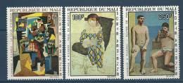 "Mali Aérien YT 46 à 48 "" Hommage à Picasso, 3 TP "" 1967 Neuf** - Malí (1959-...)"