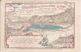 L870 - Carte Publicitaire  Du Grand Hôtel Du Lac De Joux Le Pont - VD Waadt