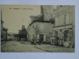 OISSERY ( 77 ) LA RUE DE L'EGLISE  CPA  585 TRES ANIMEE - Otros Municipios