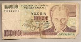 Turchia - Banconota Circolata Da 100.000 Lire P-206 - 1997 - Turchia