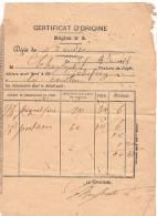 Livraison/ Certificat d�Origine / Allumettes/R�gion n�5/ Saint Andr�/Eure/ La Couture/ 1878    AL14