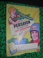 PROTEGE CAHIER PUBLICITAIRE SAVON PERSAVON - Protège-cahiers