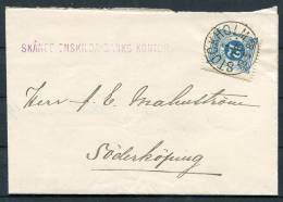 1893 Sweden 12 Ore Ring Type Stockholm - Soderkoping Bank Cover