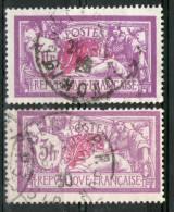 2 Belles Nuances Du N° 240°_1 Lilas/rouge_1 Violet/carmin - Varieties: 1921-30 Used