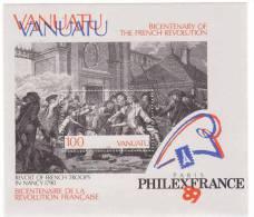Vanuatu 1989 French Revolution Bicentennial S/S MNH - Vanuatu (1980-...)