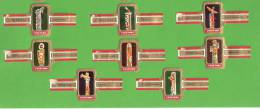 Bagues De Cigares-Cigar Bands-Tabac-Cogétama-Totems (Totem) Indiens Ou Amérindiens -Rare (8p) - Bagues De Cigares