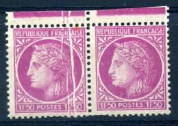 FRANCE 1945 N° 679 Variété Griffe MLH - Variétés Et Curiosités