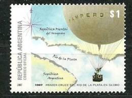 ARGENTINE  Centenaire Premiere Traversee Du Rio De La Plata En Ballon. Un T-p Neuf **. Yv.# 2706 - Fesselballons
