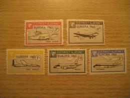 GUERNSEY ALDERNEY GB UK 1965 Plane Hydroplane Seaplane Airplane Europa Europe 5 Proof Epreuve Druck Specimen Local - Ideas Europeas