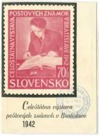Slovakia - Bratislava, National Exhibition Of Postal Stamps Year 1942 - Slovakia