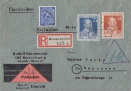 Gemeina. R-NN-Brief Mif Minr.926,963,964 Braunschweig 5.7.47 - Gemeinschaftsausgaben