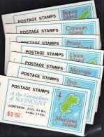 F0017 St Vincent Grenadines 1976, Stamp Booklets, SG SB1, Set Of 7 Fine Used - St.Vincent Und Die Grenadinen