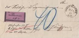 DR NN-Brief Nachporto Sanct - Blasien 25.4.83 Gel. Nach Schluchsee - Deutschland