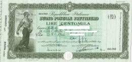 BUONO POSTALE FRUTTIFERO /  LIRE 100.000 - Emesso - Azioni & Titoli
