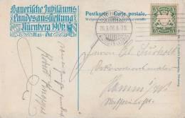 Bayern AK EF Minr.61 Bickerdike- Maschinenstempel Nürnberg 26.9.06 Ausstellung - Bayern