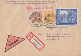 Gemeina. R-NN-Brief Mif Minr.927,951,966 Remscheid 3.2.48 - Gemeinschaftsausgaben