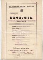 H CERTIFICATE OF CITIZENSHIP KINGDOM OF SERBS, CROATS AND SLOVENES VELIKO TRGOVISCE CROATIA - Historical Documents