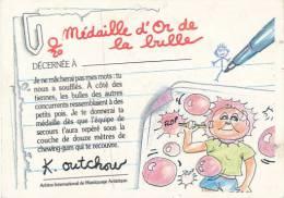 Fiche, Carte, Image CRADOS DES 80'S : Médaille D'Or De La Bulle Décernée à..., K. Outchou - Autres