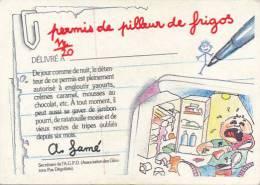 Fiche, Carte, Image CRADOS DES 80'S : Permis De Pilleur De Frigos Délivré à..., A. Famé - Autres
