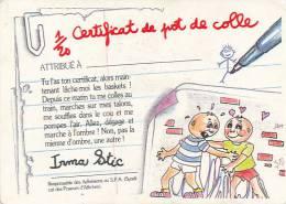 Fiche, Carte, Image CRADOS DES 80'S : Certificat Du Pot De Colle Attribué à..., Irma Stic - Autres