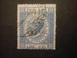 1870 - Marca Di Transizione, Fior. 0,10 - Lire 0,25, Usato - Steuermarken