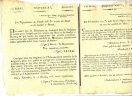 1ER EMPIRE - 11 NIVOSE AN3 - BRUSSEL - JOURNAL DE SERVICE DE LA POSTE - FRANCAIS - FLAMAND - Manuscrits