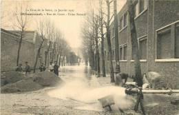 92 BILLANCOURT CRUE DE LA SEINE 1910 RUE DU COURS USINE RENAULT - Boulogne Billancourt