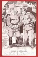 Y0137 Militaires,Suisses De L'Etranger,Le Suisse De Marseille,Le Suisse De Bruxelles.Grenzbesetzung. Minouvis 1939 - Humour