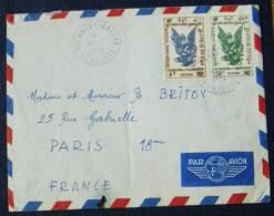 Cambodge Letrre Saigon Via Paris 1955 Poste Aérienne - Kambodscha