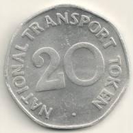 Great Britain - National Transport  20 Pence  -Transport  Token - Regno Unito