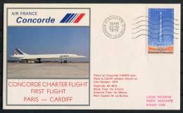 1979 GB Air France Paris - Cardiff Concorde Flight Cover - Concorde