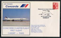 1979 GB Air France Cardiff - Paris Concorde Flight Cover - Concorde