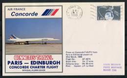 1980 GB Air France Paris - Edinburgh Concorde Flight Cover - Concorde