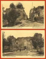 CPA 02 Aisne COUCY-le-CHATEAU (LOT De 2) - La Porte De Laon ND 50 & La Porte De Soissons ND 54 - Autres Communes