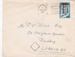 Netherlands 1956  Europa Stamp On Cover - Europa-CEPT