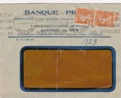 Le Puy 1929 Haute-Loire - Semeuse Perforée BP Banque Privée - France