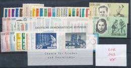 DDR Jahrgang 1963 ** Komplett Mi. 60,- - [6] República Democrática