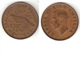*new Zealand 1 Penny 1942  Km 13  Vf - Nouvelle-Zélande
