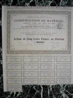 Action - France - Construction De Materiel Chemins De Fer, Marine - Raynaud Béchade - Ivry 1881 - Industrie