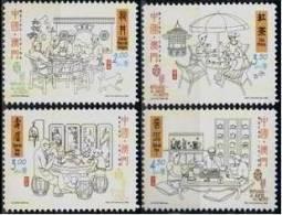 2000 Macau/Macao Stamps -Chinese Tea Ceremony Teapot Bird Fish Dog Furniture Bonsai - Drinks