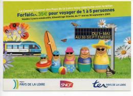Ref 107  : CPM Cart'com Nantes Pays De Loire TER Train SNCF Train - Chemins De Fer