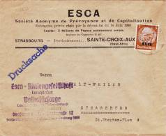 8859# LETTRE LOCALE IMPRIME DRUCKSACHE Obl STRASSBURG 1941 BAS RHIN SAINTE CROIX AUX MINES HAUT RHIN ALSACE - Alsace-Lorraine