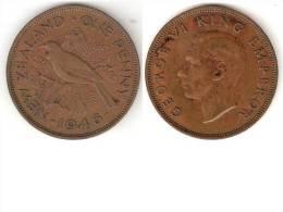 New Zealand 1 Penny 1946  Km 13  Vf+ - Nouvelle-Zélande