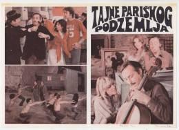 "PROGRAMS FILM ""PARISIAN UNDERGROUND SECRETS"" FRANCE FILM ACTOR MICHEL SERRAULT DIST. BY CROATIA FILM SIZE 24X17,5 CM - Programs"