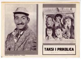 "PROGRAMS FILM ""TAXI AND TRAILER"" FRANCE FILM ACTOR LOUIS DE FUNES DIST. BY KINEMA SARAJEVO SIZE 24X17,5 CM - Programs"